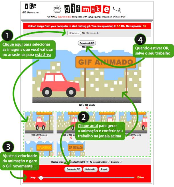 Como fazer um GIF animado no Gifmake