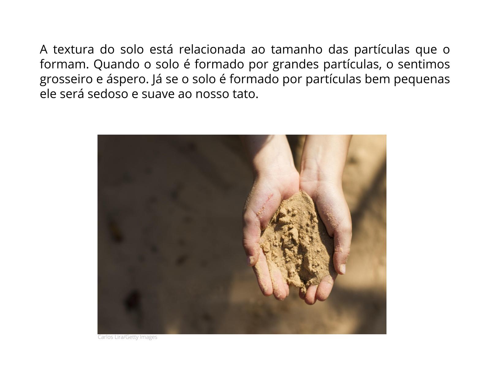 A textura do solo