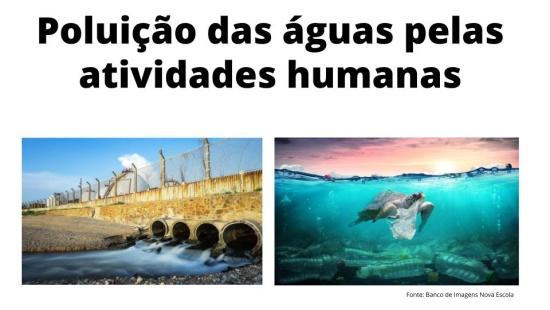 Poluição das águas pelas atividades humanas