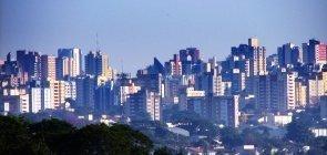 Vista panorâmica dos prédios da cidade de Londrina