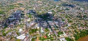 Foto aerea da cidade de Boa Vista, em Roraima