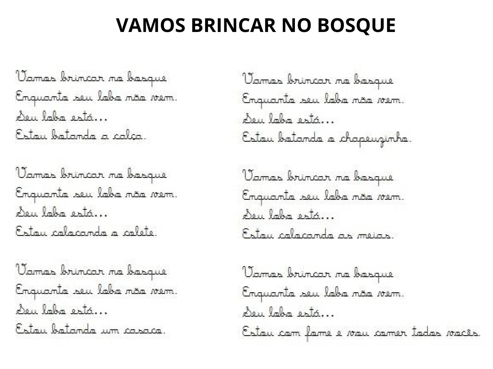 Plano De Aula 1º Ano Lingua Portuguesa Cantigas De Roda
