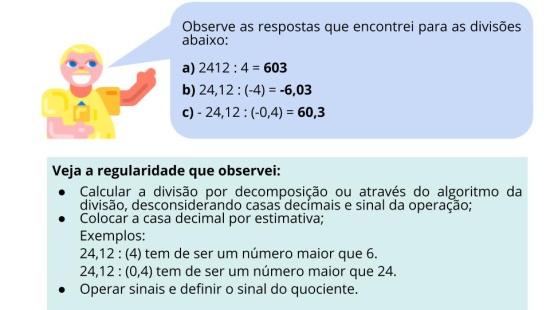 Estratégias de divisão envolvendo número decimal