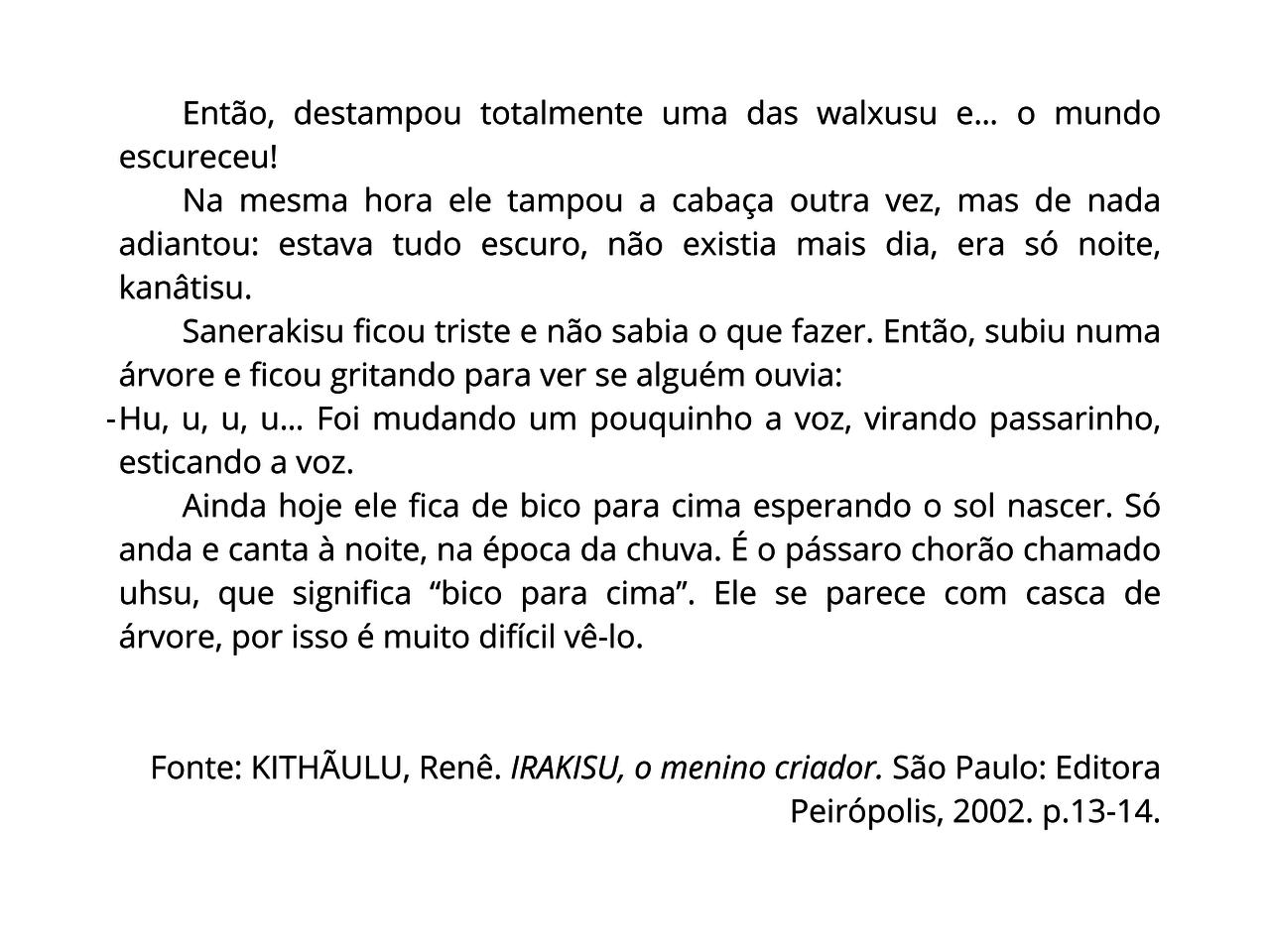 Plano De Aula 4º Ano Lingua Portuguesa Texto Fatiado Lenda