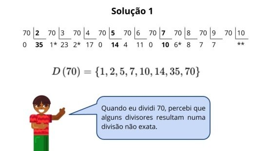 Divisores de um número natural