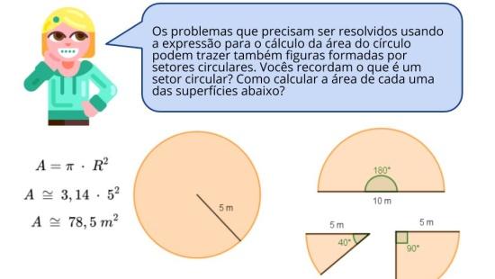 Resolução de problemas envolvendo área do círculo