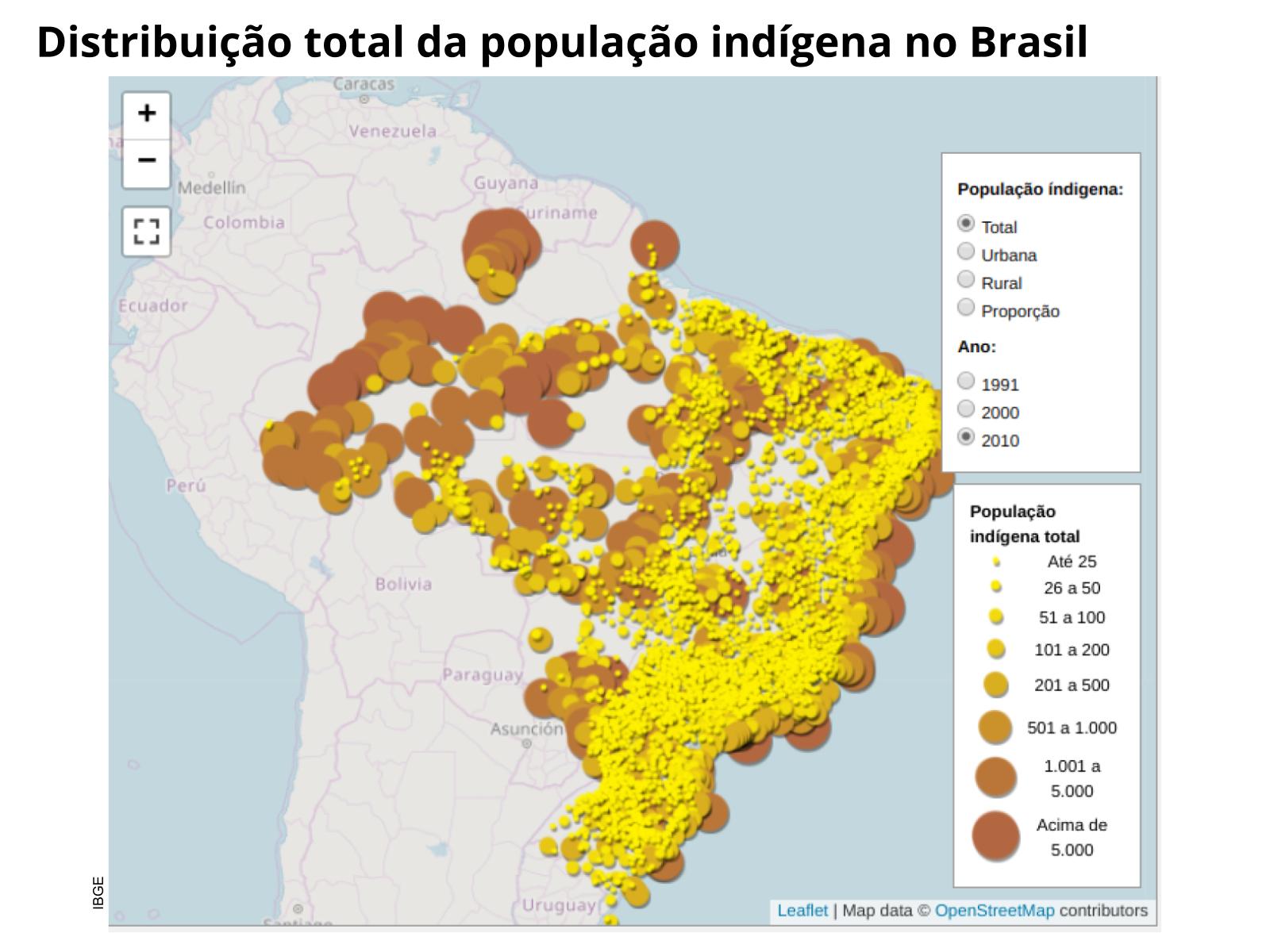 A diminuição da população indígena na América portuguesa