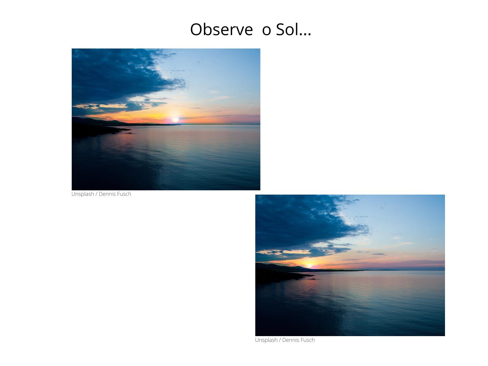 Movimento anual do Sol e as estações do ano