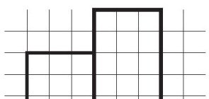 Cópia de figuras geométricas em papel quadriculado