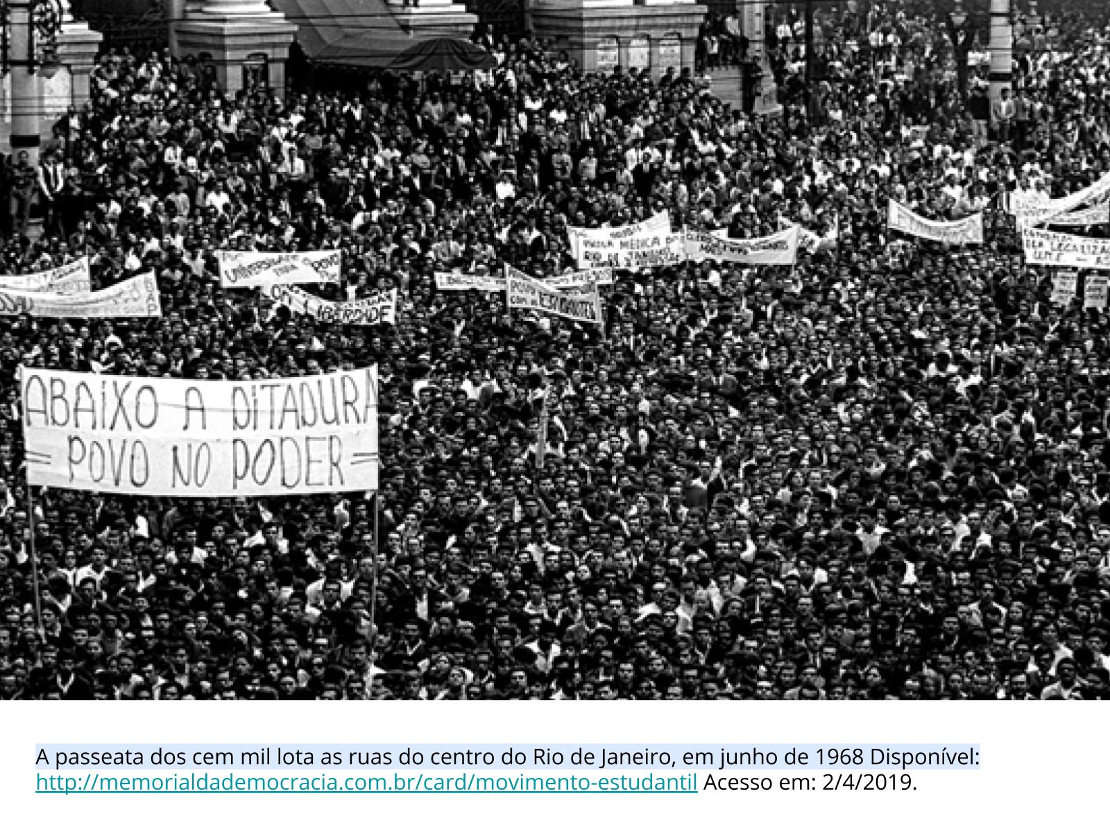 Resistência estudantil durante  a ditadura civil-militar