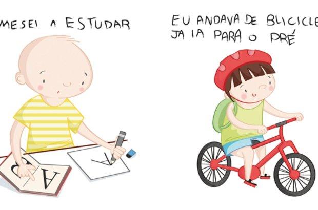 O brincar apareceu em boa parte dos desenhos e das escritas dos alunos. Marilia Bruno