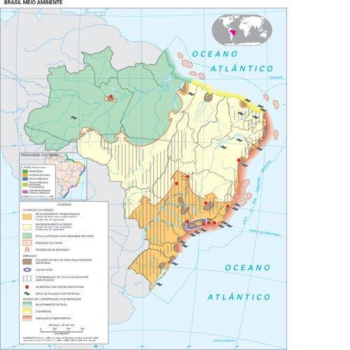 Mapa Brasil meio ambiente. Fonte: Geoatlas, Maria Elena Simielli, Ed. Ática, 2010