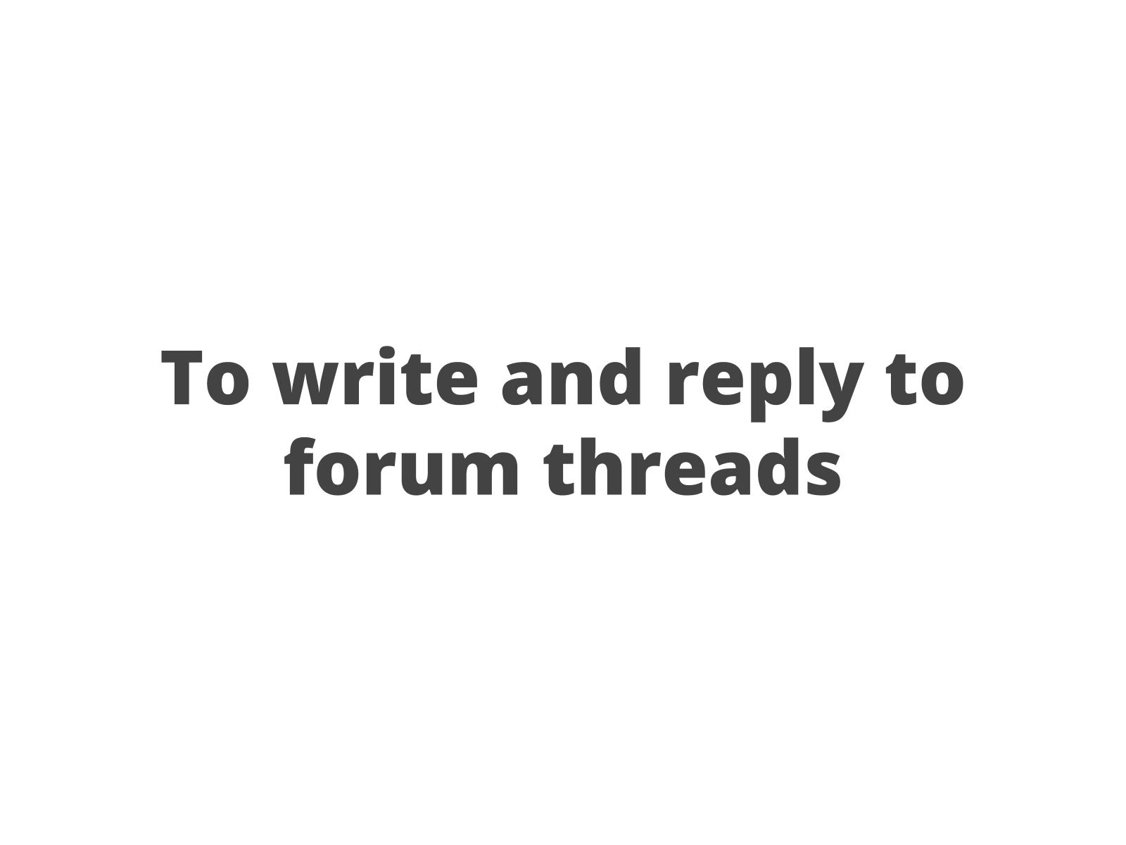 Postagem em fórum