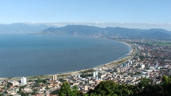 Vista panorâmica das praias de Caraguatatuba