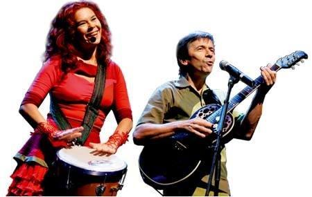 Sandra Peres e Paulo Tatit: canções infantis inteligentes e instigantes. Foto Divulgação