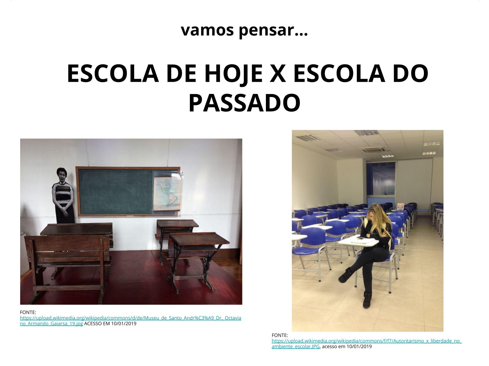 Marco histórico: Escola