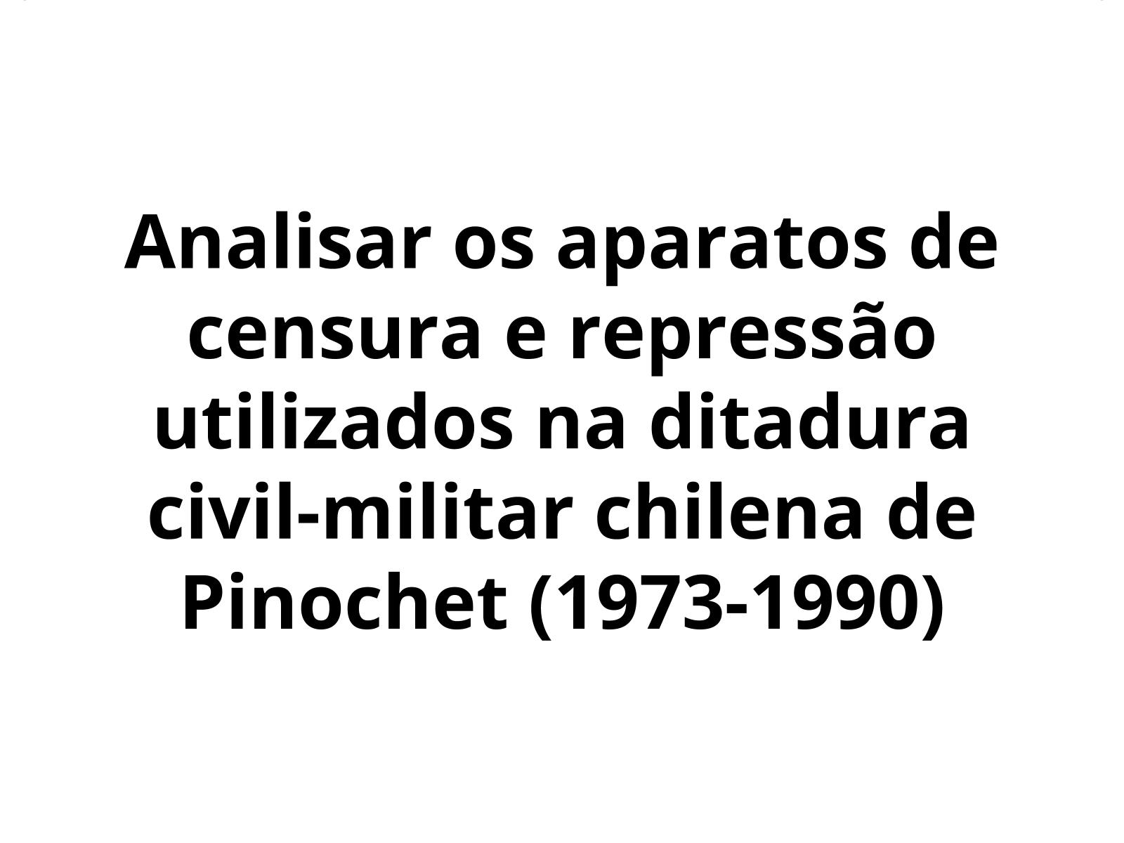 Censura e repressão na ditadura chilena de Pinochet (1973-1990)