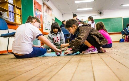 Alunos da escola Amorim Lima