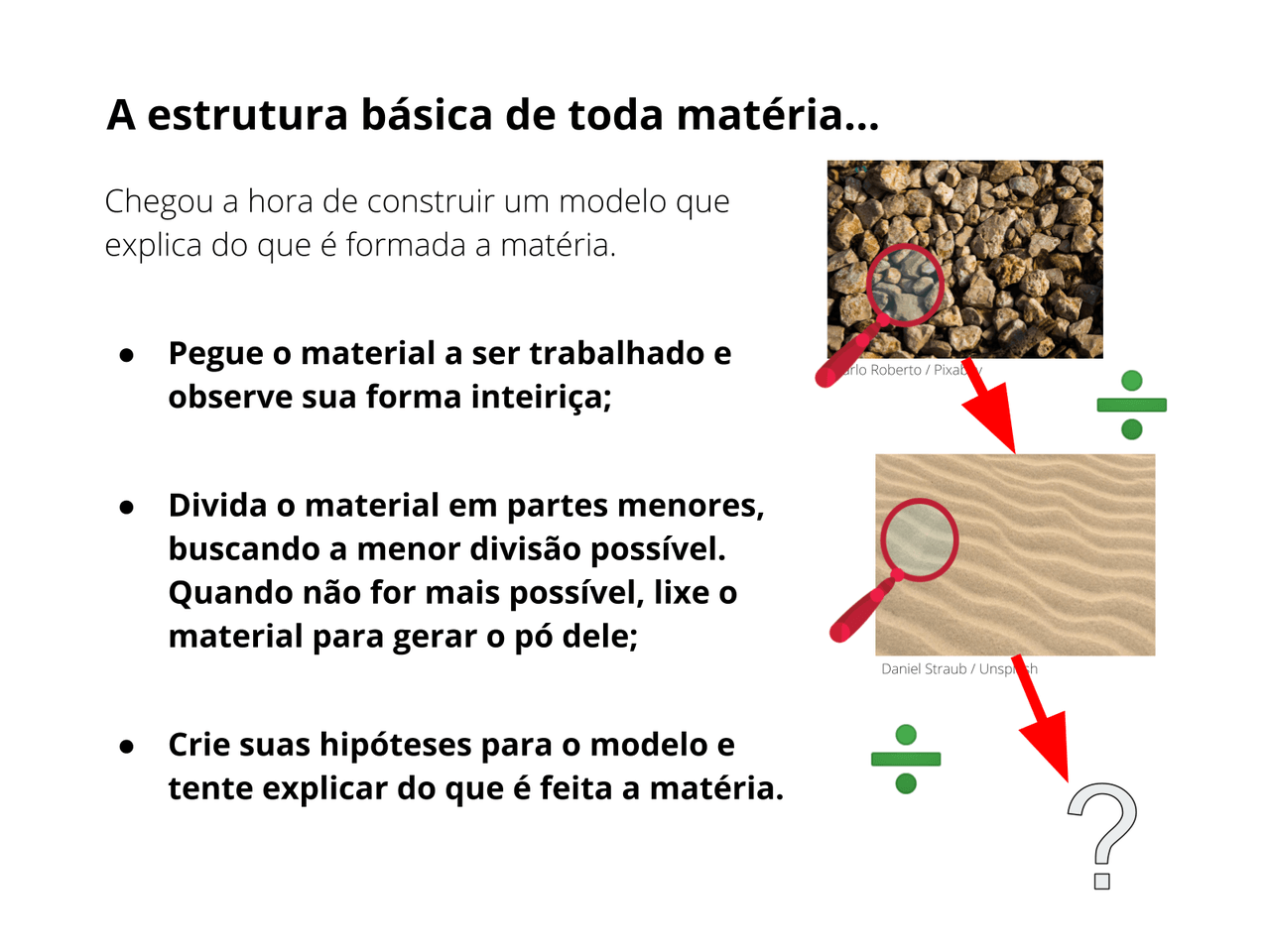 Do que a matéria é feita?