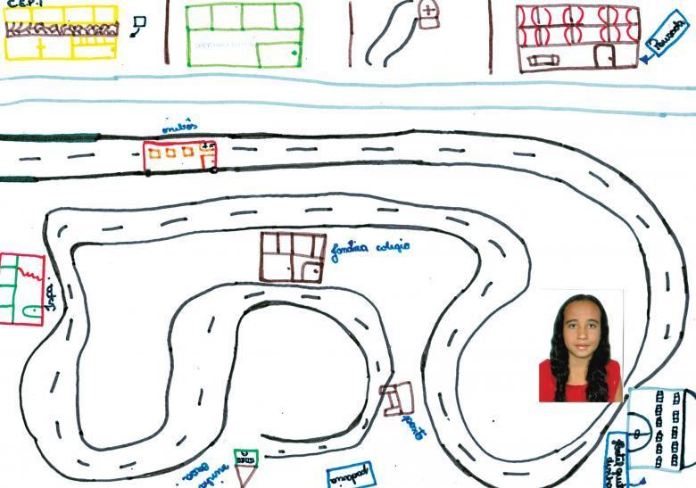 Trajeto do cotidiano feito pela aluna Larissa Pacheco Vieira