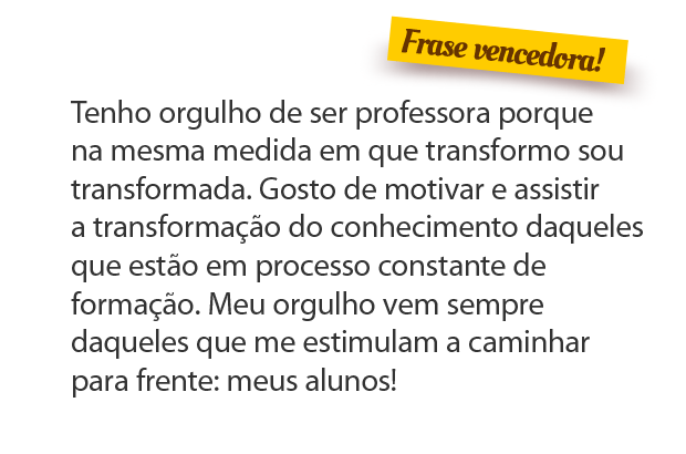 Confira O Resultado Do Concurso Cultural Orgulho De Ser Professor