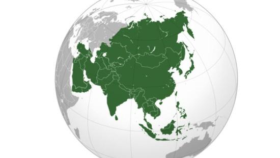 Distribuição da população no continente asiático