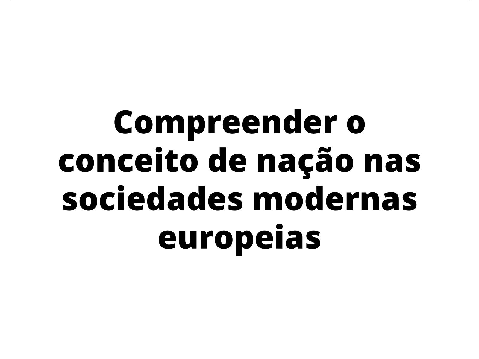 A ideia de Nação nos Estados Absolutistas Modernos.