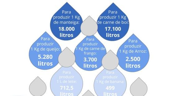 Uso da água - agricultura, indústria e atividades cotidianas.
