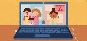 Como moderar o uso de telas nas atividades a distância e orientar as famílias