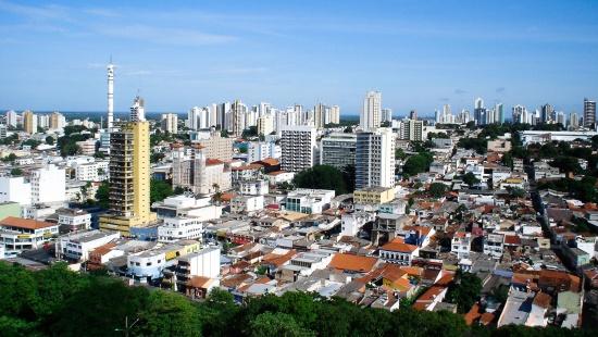 Vista aérea da cidade de Cuiabá, capital do Mato Grosso.