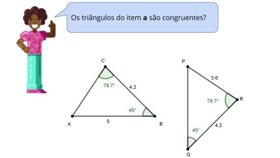 Identificando Triângulos Congruentes