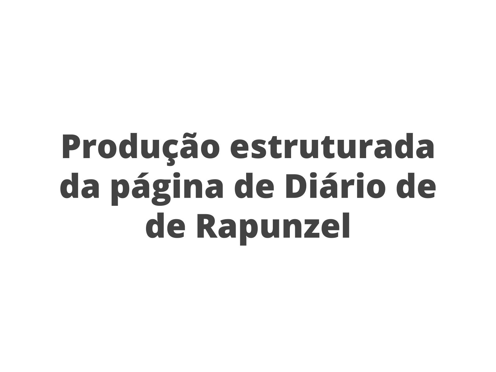 Diário: produção textual