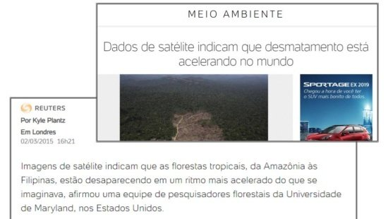 Imagens de satélites e florestas