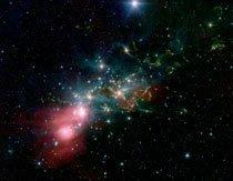 O nascimento de uma estrela na constelação de Perseus, a uma distância de mil anos-luz da Terra. Foto: NASA/JPL/Divulgação