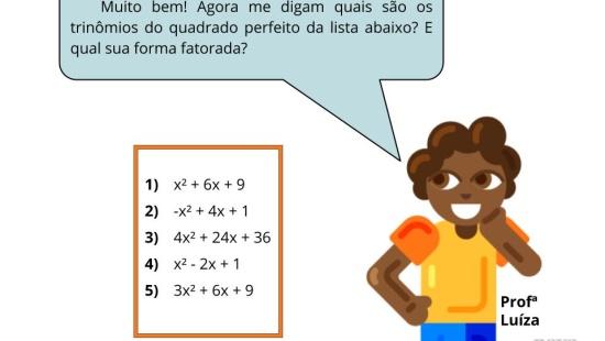 Equações quadráticas e regularidades