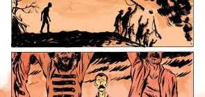 quatro quadrinhos da história dos Sertões
