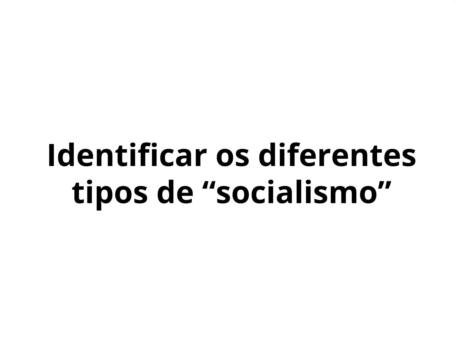 """Os """"socialismos"""""""