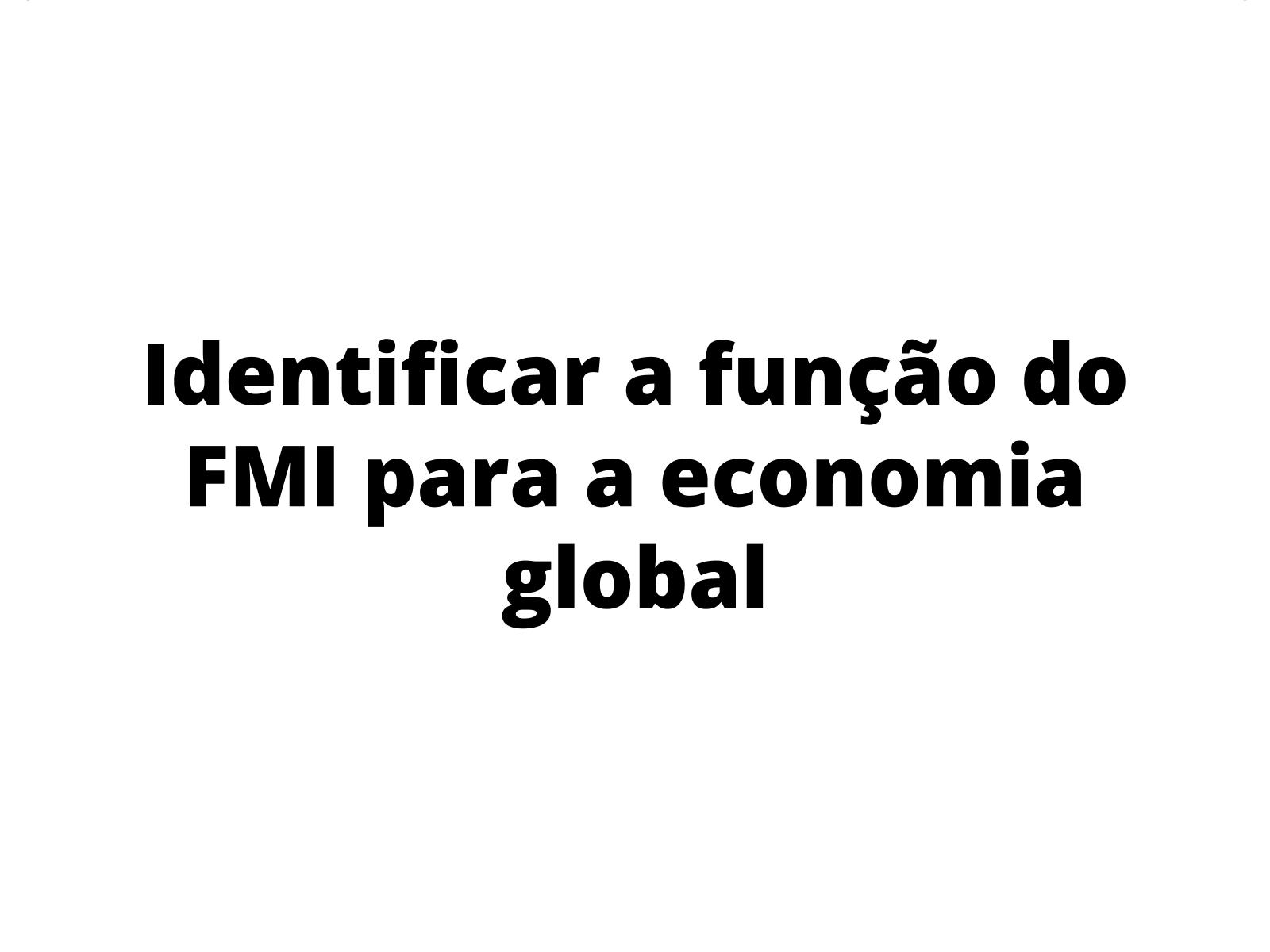 O Brasil e o FMI