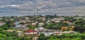 Vista aérea do município de Iporã do Oeste, em Santa Catarina