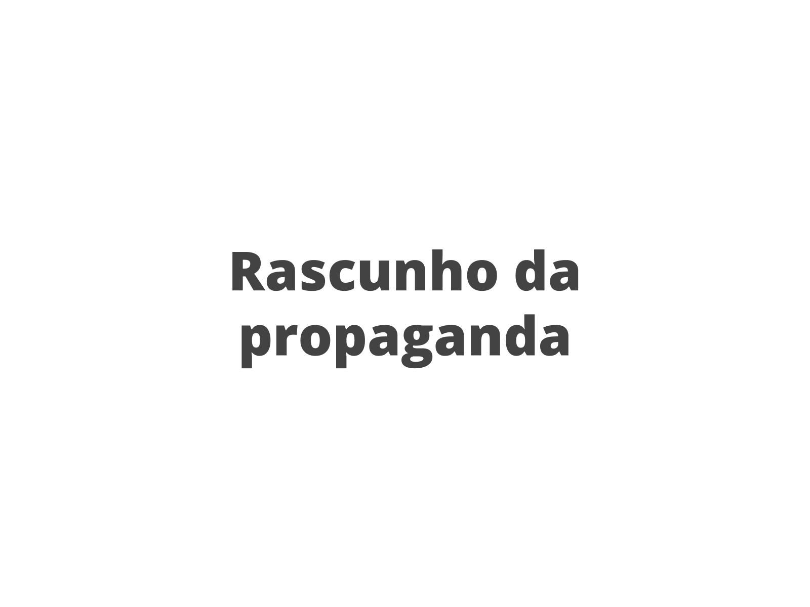 Elaboração de uma propaganda