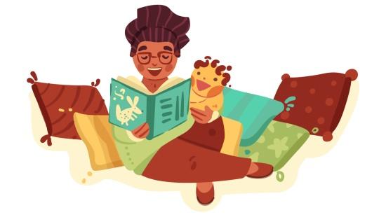 Leitura aconchegante para bebês