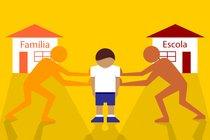 Escola e Família. Ilustração: Vilmar Oliveira