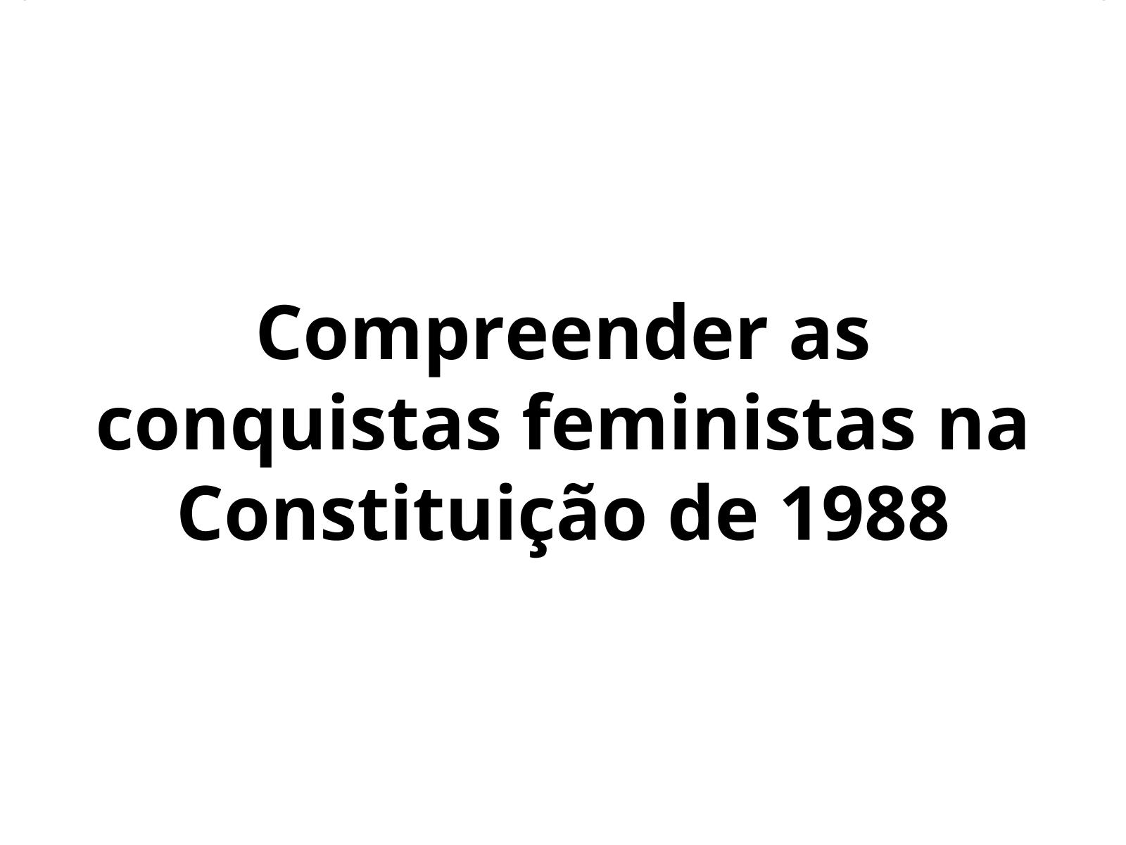 A Constituição de 1988 e a luta pelos direitos das mulheres no Brasil