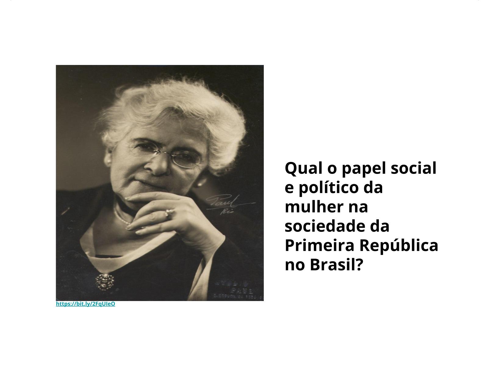 A mulher na Primeira República  no Brasil