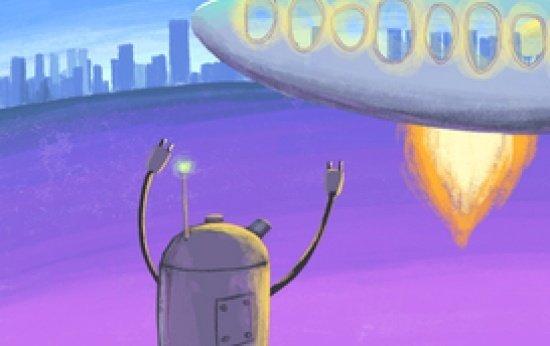 O lançamento do robô