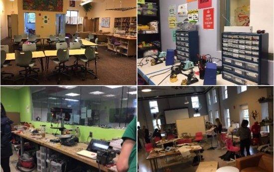 Espaços da NuVu Studio e Acera School