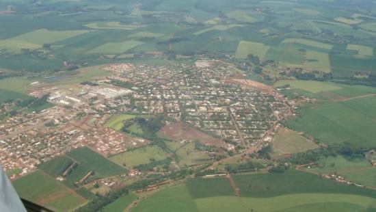 Vista aérea da cidade de Cafelândia