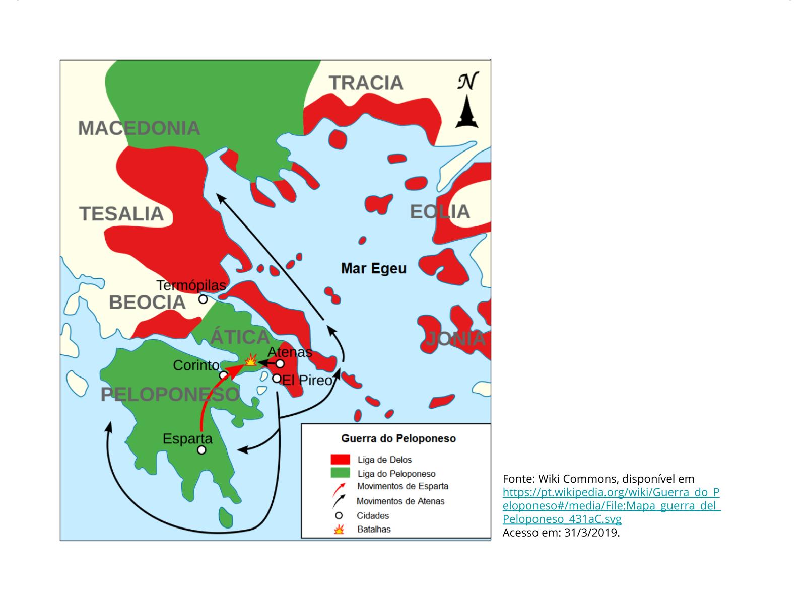 Esparta e Atenas, das Guerras Médicas à Guerra do Peloponeso