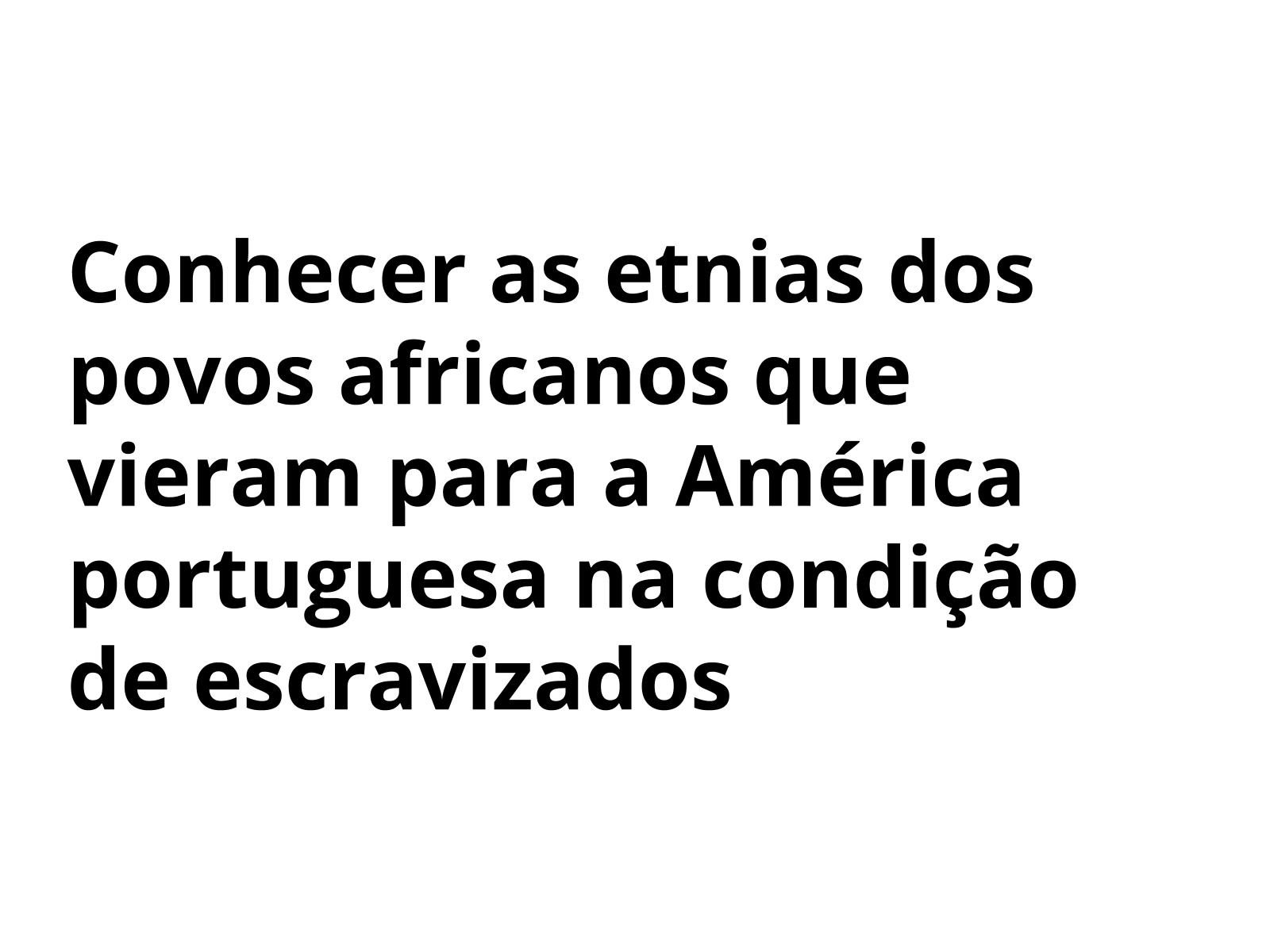 O povos africanos na  América portuguesa
