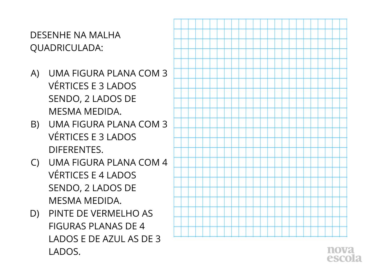 Figuras Planas Na Malha Quadriculada Planos De Aula 2º Ano